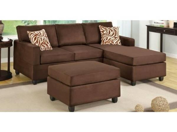 Sofa chaise in 3 colors free ottoman for sale in las vegas for Furniture of america las vegas