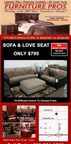Sofa love seat no credit check 90 days same as cash for Furniture 90 days same as cash