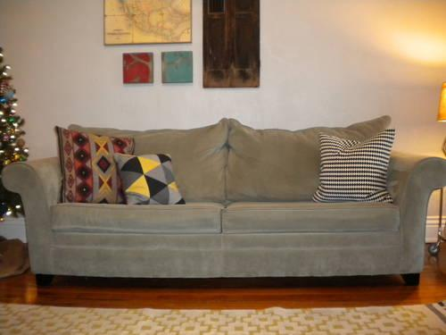 Amazing Sofa Mart Clara Queen Sleeper Couch Griffin Mist Color Onthecornerstone Fun Painted Chair Ideas Images Onthecornerstoneorg