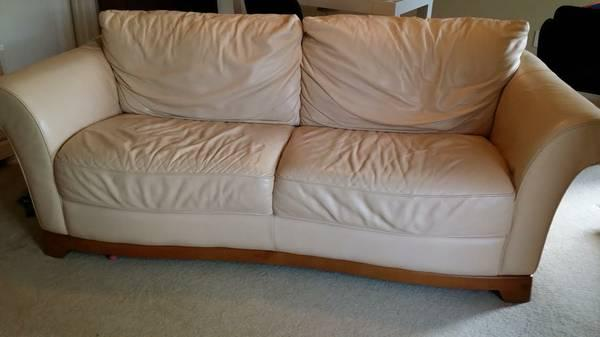 SOFA - real LEATHER - originally over $1000/$400 obo -