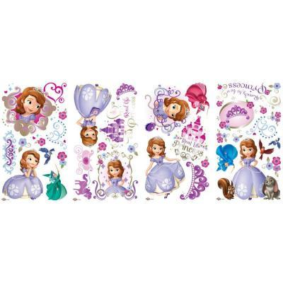 Sofia the First Peel and Stick 37-Piece Wall Decals