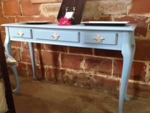 Soft Blue Sofa Table Entry Table Statesboro for Sale