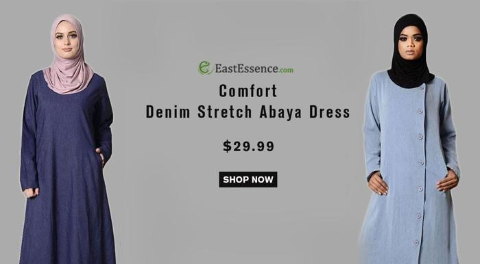 Soft Luxe Stretch Denim Abayas $29.99 only