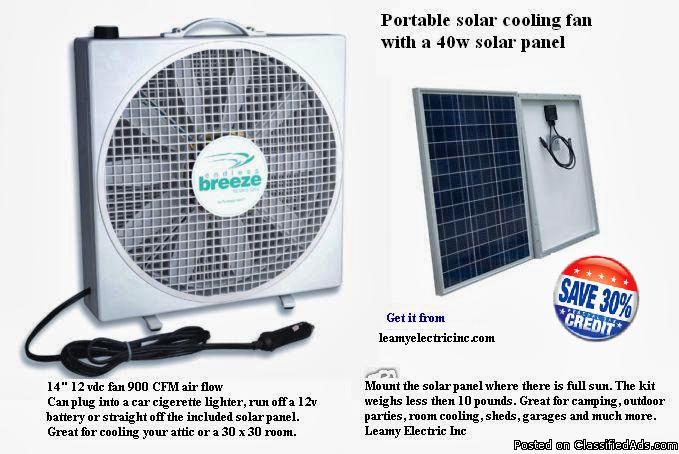Solar Cooling Fan For Sale In Pottstown Pennsylvania