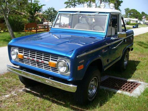 sold 1975 ford bronco 302 one of a kind restored the best sold for sale in stuart. Black Bedroom Furniture Sets. Home Design Ideas