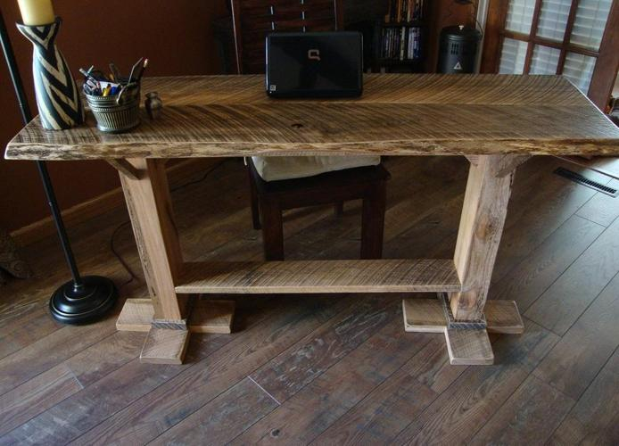 Sold 5 39 Sofa Entry Table Rustic New Custom Made Springfield For Sale In Springfield