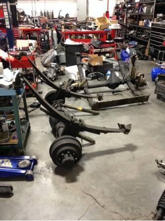 Solid axle swap kit w 34 ton axles 4.88 gears, 10 lift springs - $2500