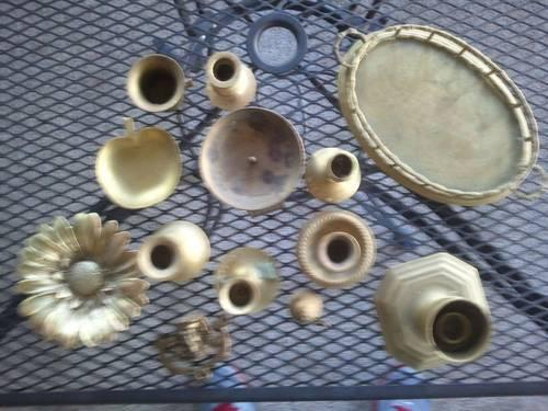 Solid Brass Items - Candle Stick Holders, Bowls, Trays