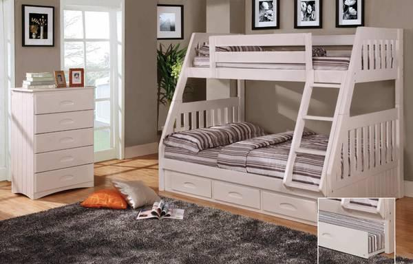 Solid Bunk Beds Kids Furniture Many Colors