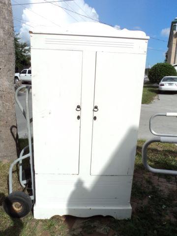 Solid Cedar Wardrobe - Painted White