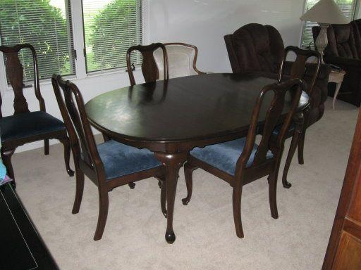 solid cherry dining room table with 6 chairs greensboro