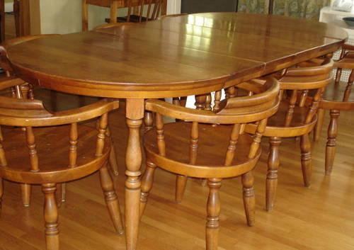 Solid Maple Dining Table And 8 Chairs 4 Leaves For Sale In Cincinnati Ohio