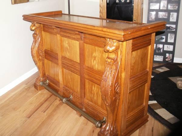 Solid Oak Bar For Sale In Rio Linda California