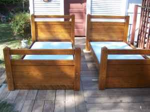Solid Oak Bunkbeds midtown for Sale in Tulsa Oklahoma