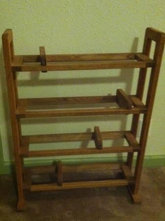 Solid Oak CD holder - $10