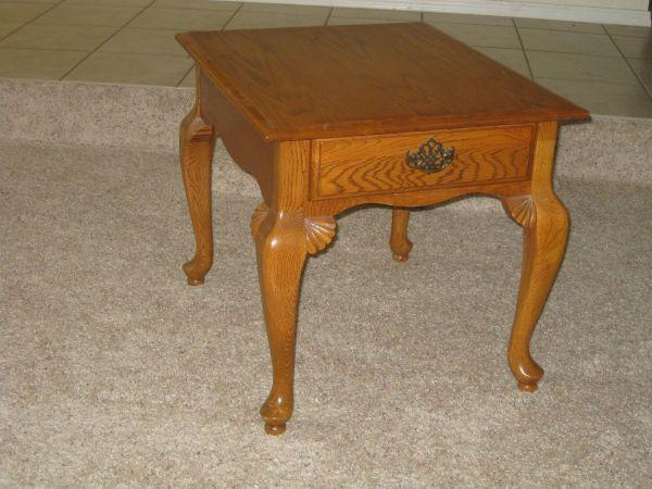 Solid Oak Coffee Table Two End Tables Claw Feet Prescott For Sale In Prescott Arizona