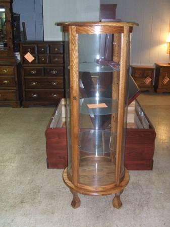 Solid Oak Curio Cabinets   Made In The U.S.A For Sale In Climax, Kentucky