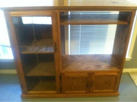 Solid Oak Entertainment Center Cypress For Sale In