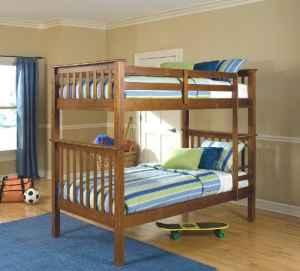 Solid Oak Mission Style Bunk Beds Huxley For Sale In