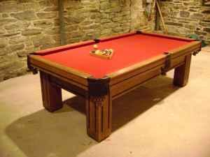 SOLID OAK POOL TABLE 8 FT GANDY - $1100