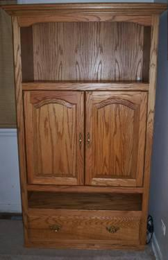 Solid Oak TV Armoire