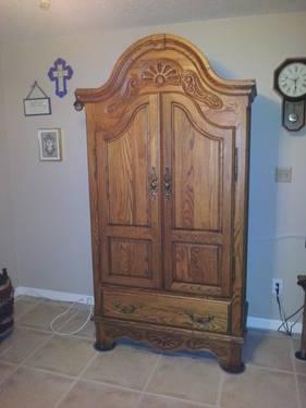 Solid Oak Wardrobe or Armoire
