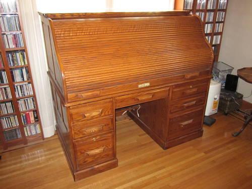 Solid Oak Winner S Only Rolltop Desk For Sale In Rochester