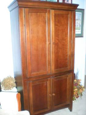 solid pine rustic style armoire with storage for sale in. Black Bedroom Furniture Sets. Home Design Ideas