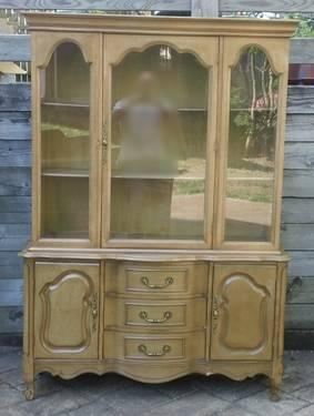 solid walnut vintage dining room set china cabinet buffet table for