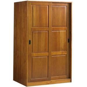 Solid Wood 3 Sliding Door Wardrobe 567