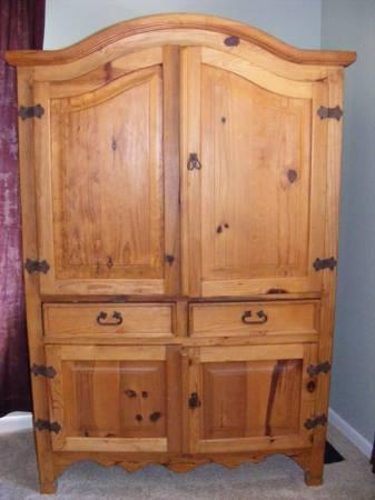 Solid Wood Beautiful Entertainment Armoire - $325