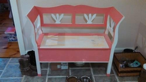 Solid wood bench w storage from Lillian August