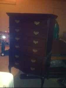 solid wood chest - $215