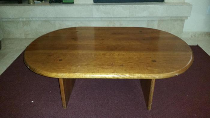 Solid wood coffee table reduced price for sale in las for 1 oak las vegas table prices