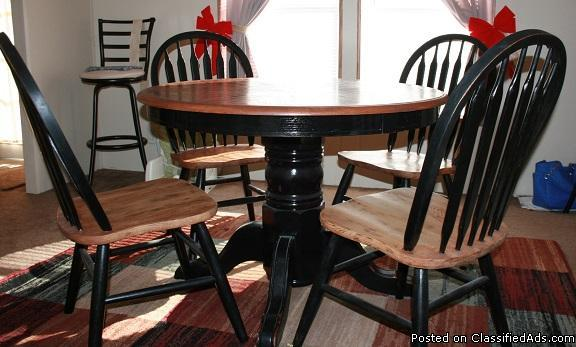 Solid Wood Dining Room Table And Chairs For Sale In