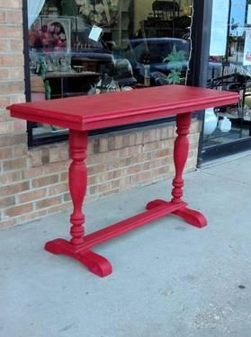 Solid Wood Dry Sink Hand Painted Emporers Silk Red For