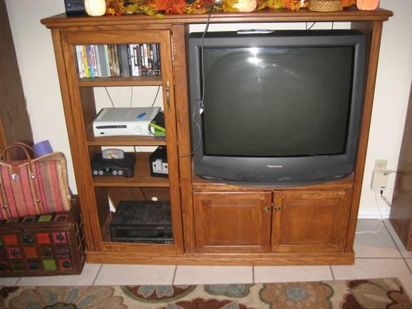 Solid Wood Entertainment Center For Sale In Fort Walton