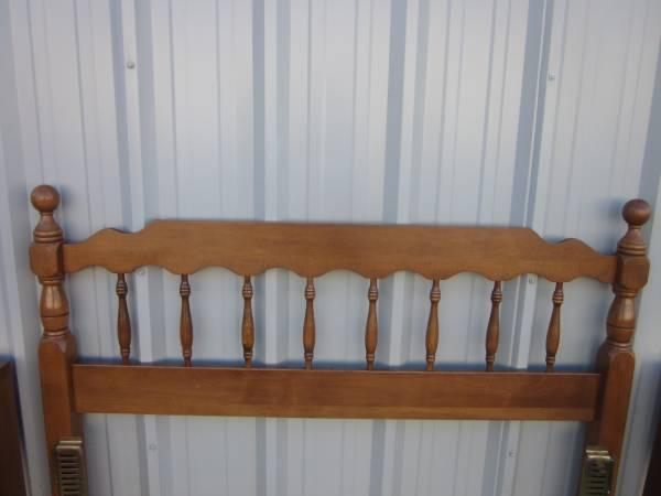 SOLID WOOD FULL SIZE HEADBOARD W/FRAME - $125