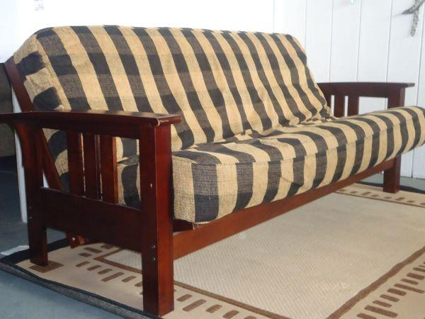 Solid Wood Futon With Mattress 400 Chico