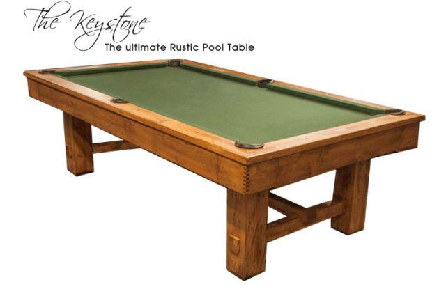 Solid Wood Keystone Pool Table by Golden West Billiards