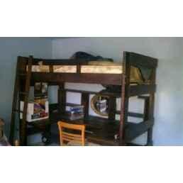 SOLID WOOD LOFT BED DESK ELKTON for Sale in