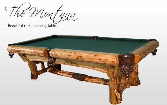 Solid Wood Montana Pool Table By Golden West Rustic Log
