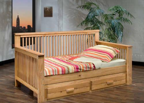 Solid wood natural daybed with two drawers downtown lakeland for sale in lakeland florida - Solid wood trundle bed with drawers ...