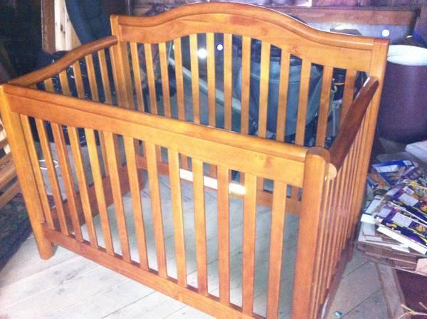 reduced solid wood oak on pine crib 100