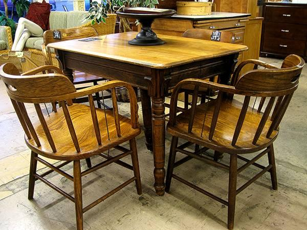 Solid wood table antique eugene liquidators for sale in for Reclaimed wood furniture oregon