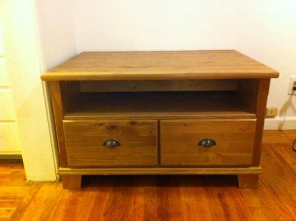 solid wood tv stand small chest of drawers for sale in menlo park california classified. Black Bedroom Furniture Sets. Home Design Ideas