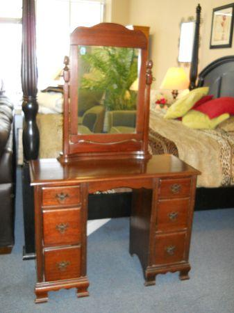 Bon Solid Wood Vanity W/ Mirror   $125 (60/40 Furniture