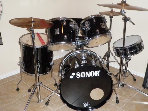sonor complete five piece drum set with symbol set for sale in mission texas classified. Black Bedroom Furniture Sets. Home Design Ideas