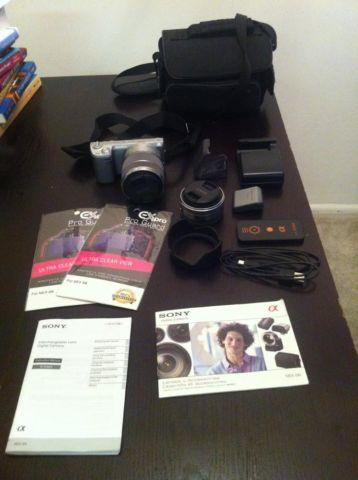 Sony Alpha NEX-5N 16.1 MP Digital Camera- Bundle