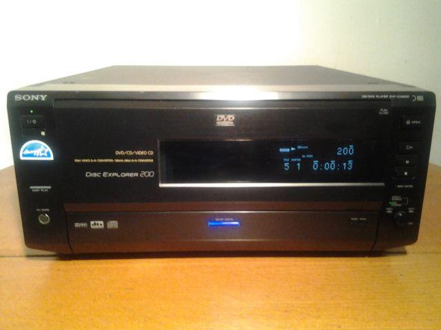 SONY DVP CX850D 200 DISC DVD EXPLORER CD JUKEBOX